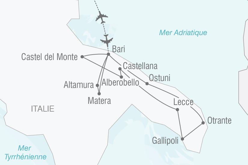 carte Italie Les Pouilles l authentique Italie du Sud NT19 20_314 136385