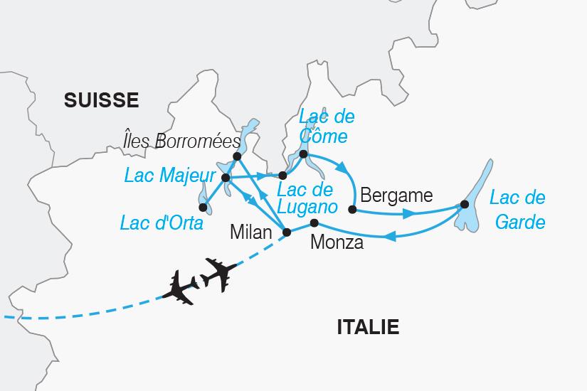 carte Italie Les plus beaux Lacs d Italie SH19 20_319 350826