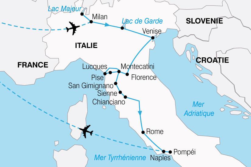 carte Italie LesTresors 629669