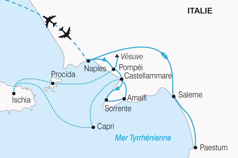 carte Italie Naples la plus belle Baie au Monde SH20_339 671958