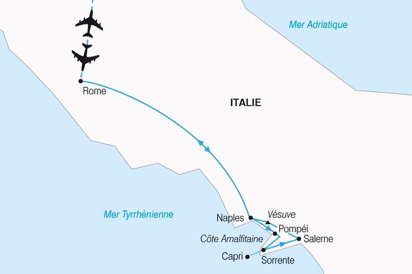 carte Italie Rome et la merveilleuse Baie de Naples SH20_339 629013