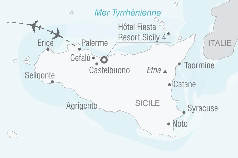 carte Italie Sicile Hotel Fiesta Resort Sicily nt 2019_293 605325