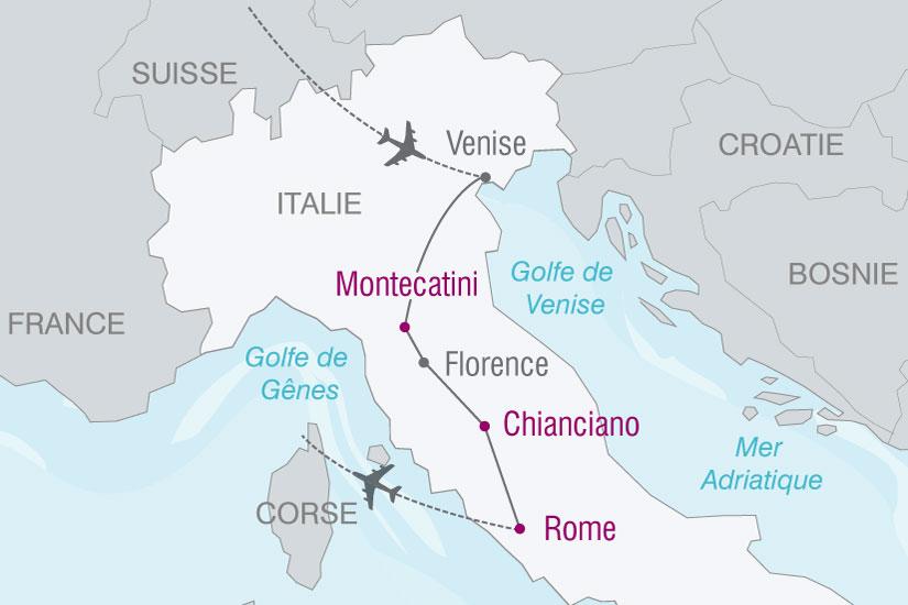 carte Italie Venise Florence Sienne Rome 887289