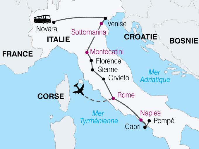 carte Italie beaux sites  nthiver 255677