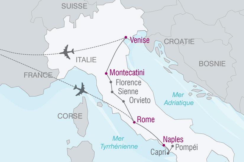 carte Italie beaux sites 538824
