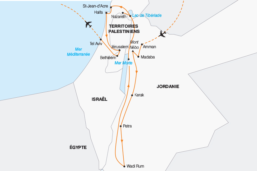 carte Jordanie Israel tresors d Orient 2019_292 350699