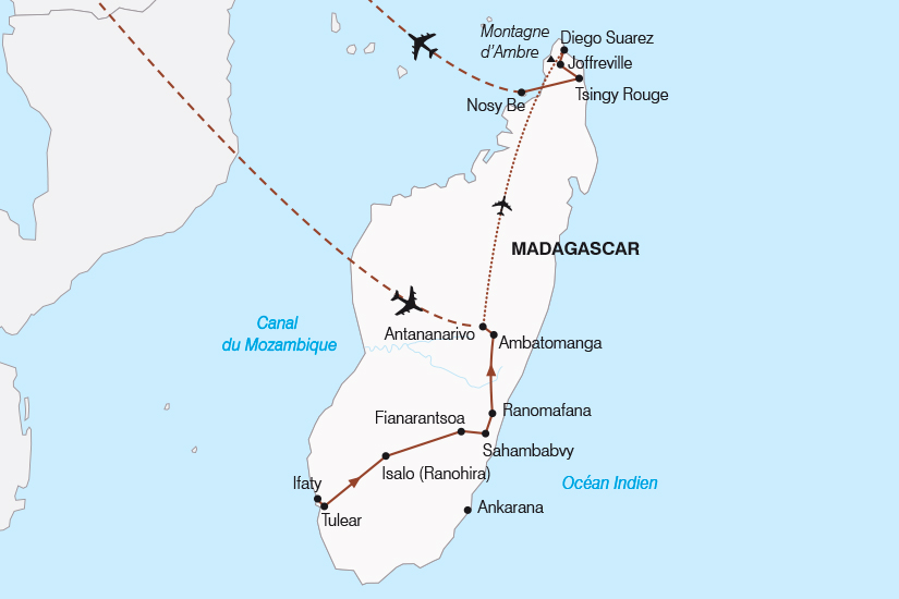 carte Madagascar Le Grand Tour de l ile Rouge SH19 20_319 155667