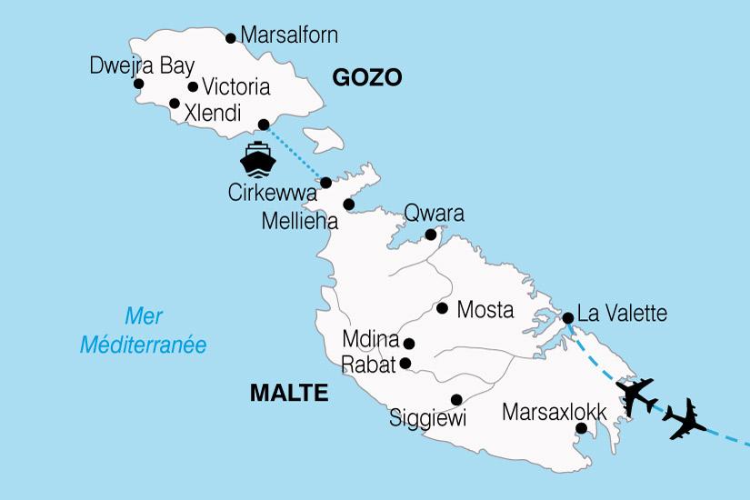 carte Malte Ile Chevaliers 594488