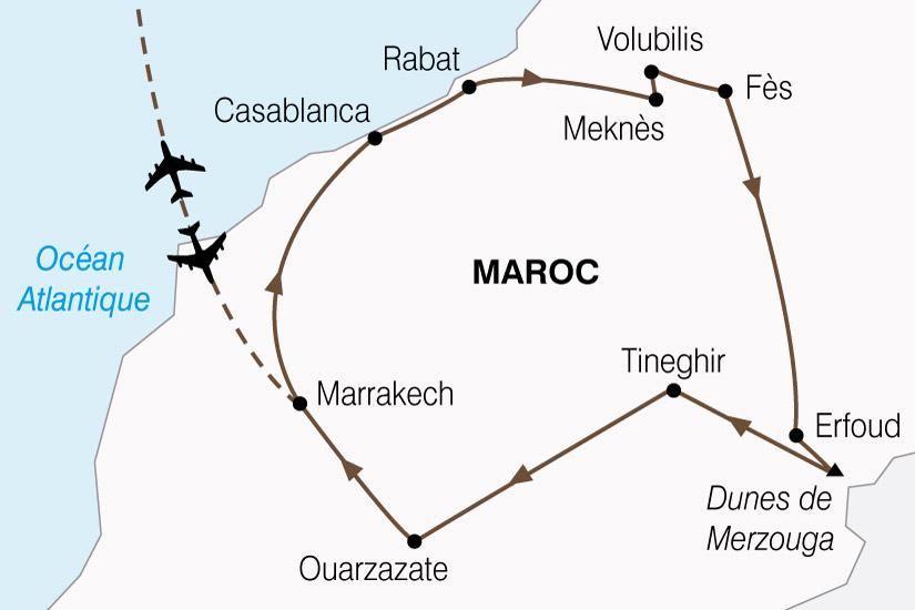 carte Maroc Cites Imperiale  Magie Sud 242414