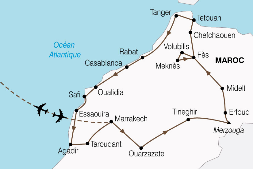 carte Maroc Grand Tour 619499