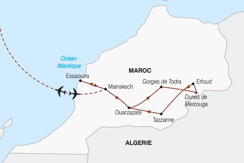 carte Maroc Le Maroc entre mer et desert 2018_267 747943