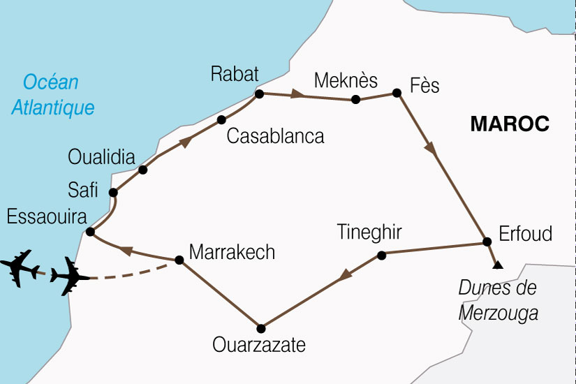 carte Maroc Splendeurs Marocaines 271174