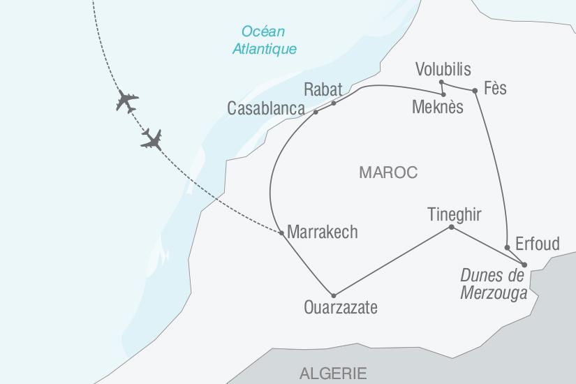 carte Maroc Villes Imperiales et beaute du Grand Sud nt 2019_293 702755