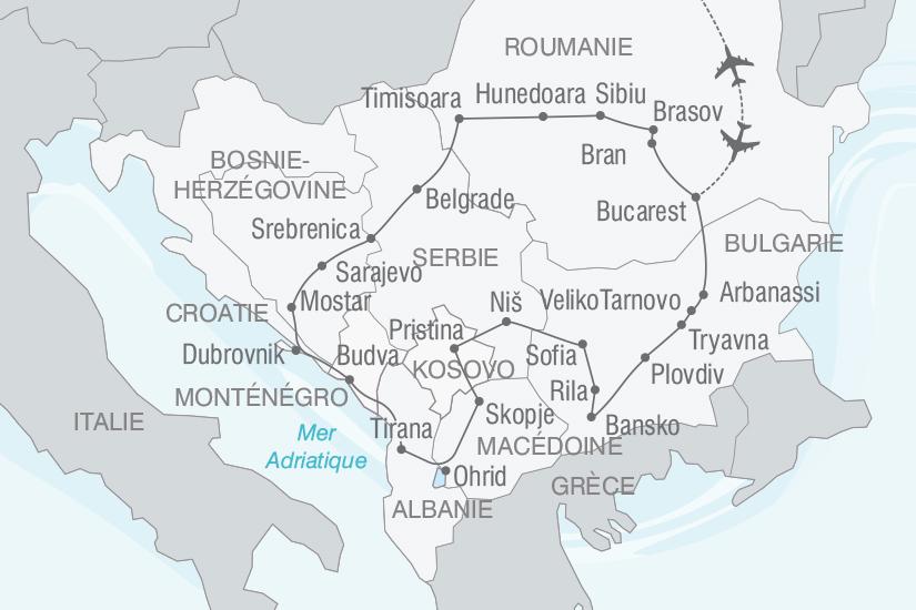 Carte Italie Balkans.Merveilles Des Balkans