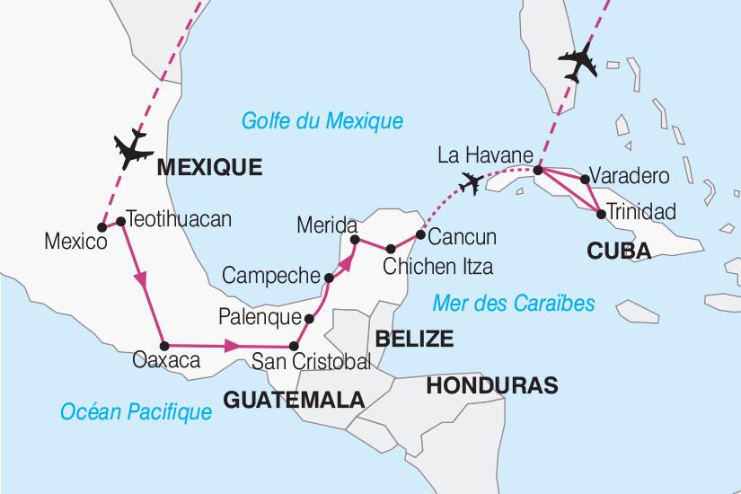 carte Mexique Cuba De Mexico a La Havane 2019_292 192755