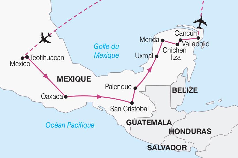 carte Mexique Merveilles Mexicaines 2019_292 629855