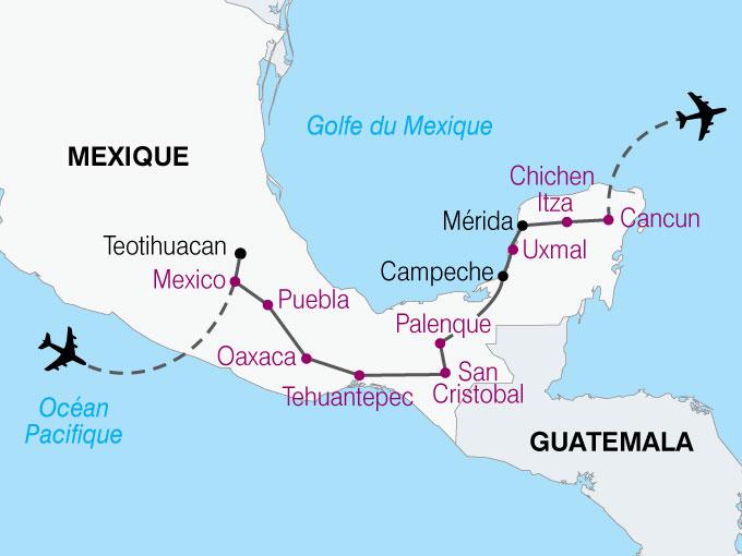 carte Mexique traces mayas  nthiver 280949