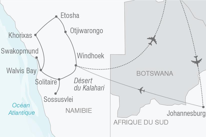 carte Namibie L Afrique grandeur nature NT19 20_314 494404