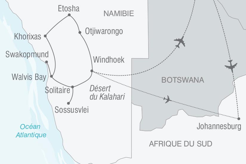 carte Namibie l Afrique grandeur nature nt 2019_293 889335