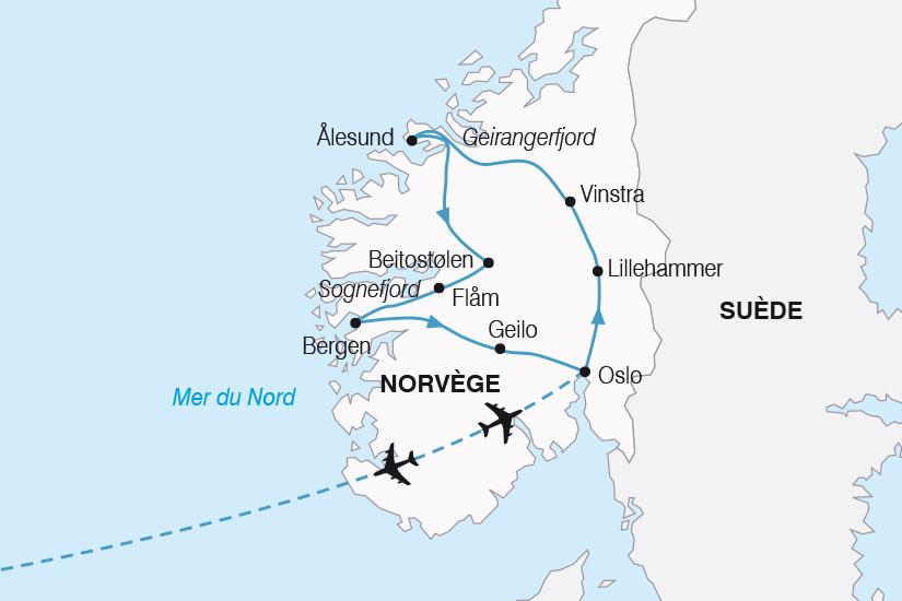 carte Norvege Fjords et Trolls SH20_339 891341