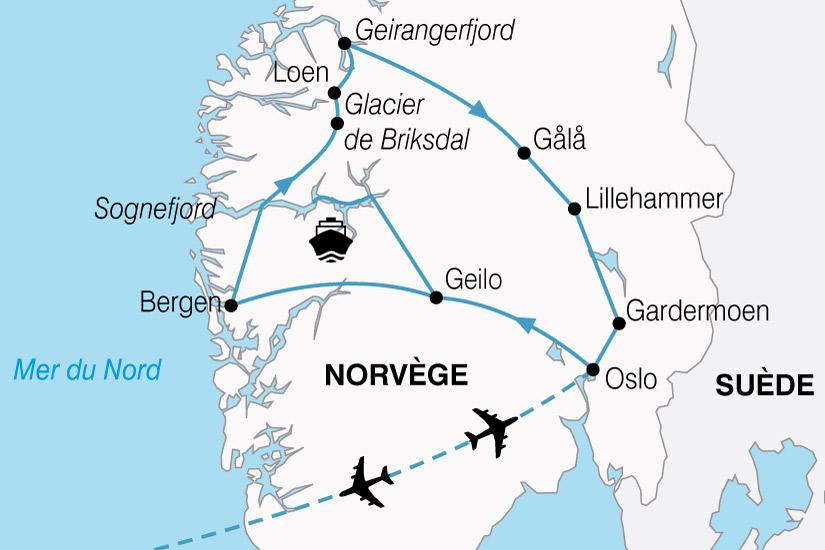 carte Norvege Plus Beaux Fjords 301855