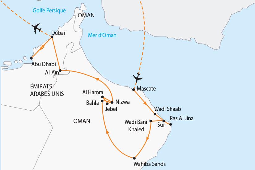 carte Oman Emirats charmes de l Orient SH19 20_319 645027