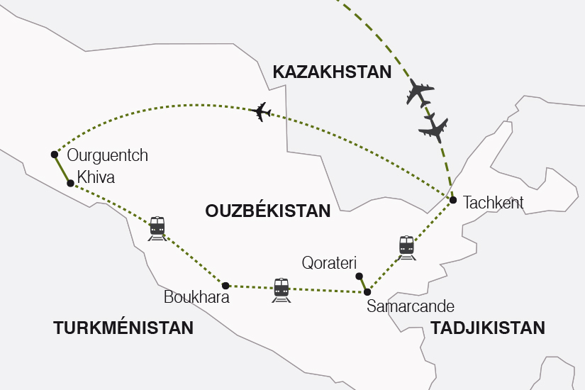 carte Ouzbekistan Tresors de l Ouzbekistan SH20_339 538836