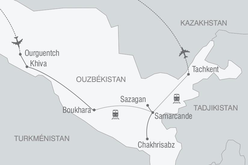 carte Ouzbekistan mythique Route de la Soie nt 2019_293 728311