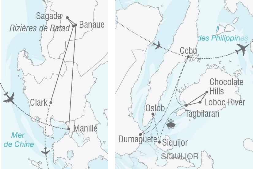 carte Philippines Splendeurs de Luzon et des Visayas NT19 20_314 737043