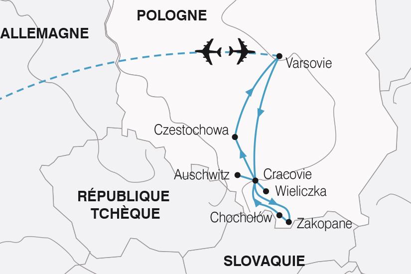 carte Pologne Escapade Polonaise SH19 20_319 227175