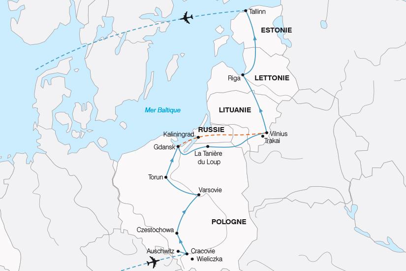 carte Pologne La Pologne et les Pays Baltes SH19 20_319 371736