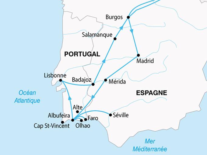 carte Portugal Algavre Sud Portugal 781434