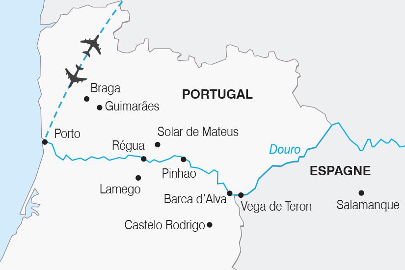carte Portugal Croisiere O fil du Douro SH19 20_319 856085