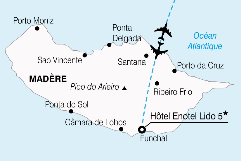 carte Portugal Madere Hotel Enotel Lido 646541