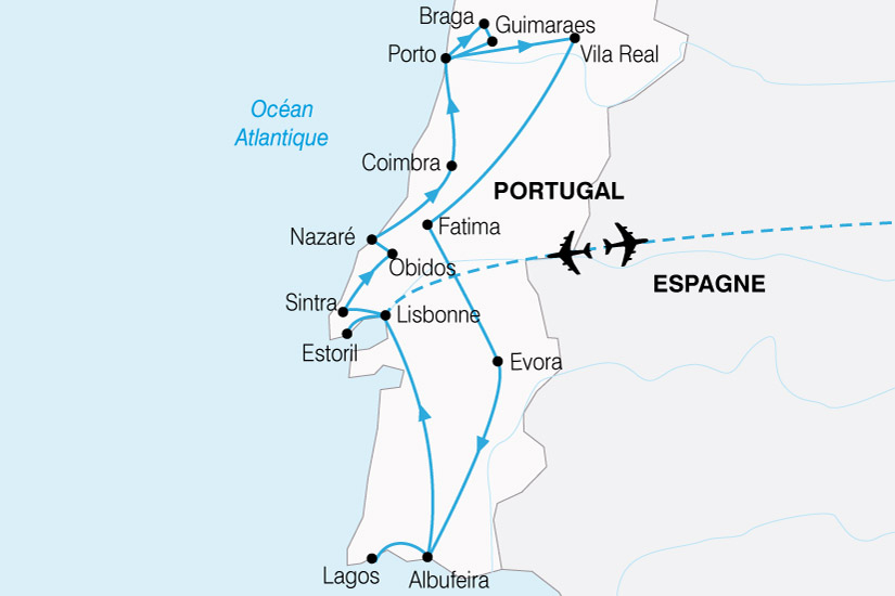 carte Portugal Nord Sud 557849