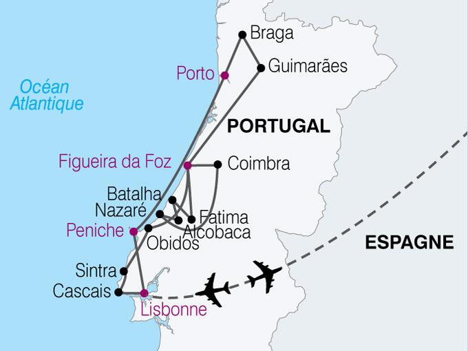 carte Portugal merveilles portugal  nthiver 826034