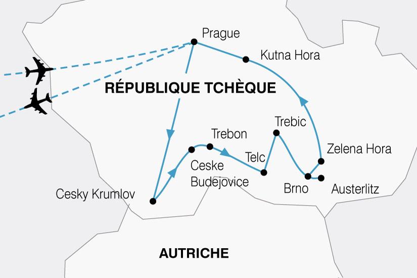 carte Rep Tcheque Prague Boheme 526142