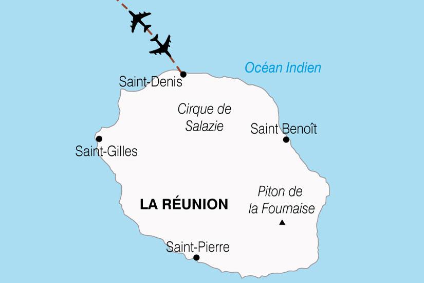 carte Reunion Ile Bourbon 176534