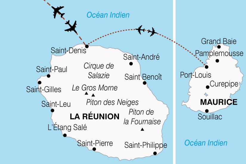 carte Reunion Maurice Charme Ocean Indien 489047