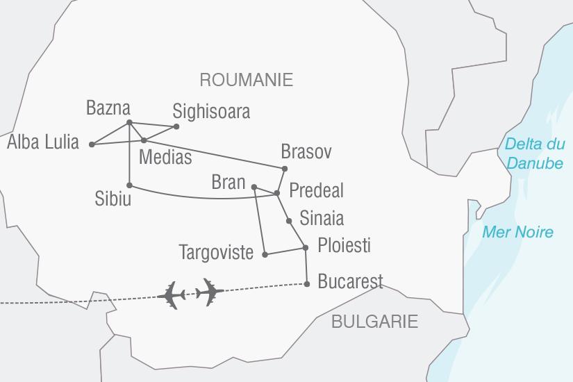 carte Roumanie Balade en Roumanie NT20_341 146036