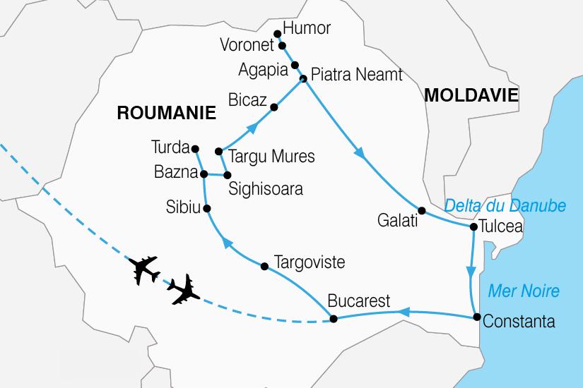 carte Roumanie Carpates roumaines delta Danube 101514