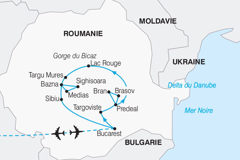 carte Roumanie Decouverte de la Transylvanie 267 763011