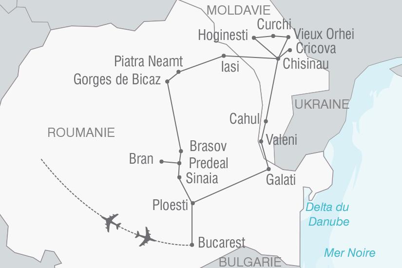 carte Roumanie Moldavie Entre Roumanie et Moldavie NT20_341 310535
