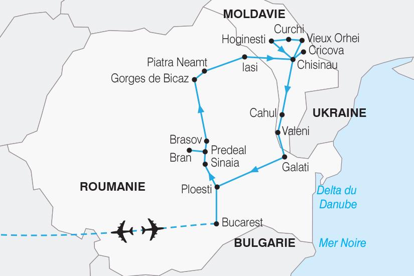 carte Roumanie Moldavie Tresors de la Roumanie et de la Moldavie SH20_339 166184