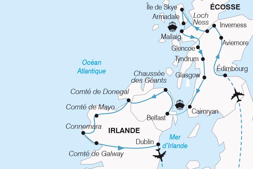 carte Royaume Uni Magie Celte entre Ecosse et Irlande SH20_339 502472