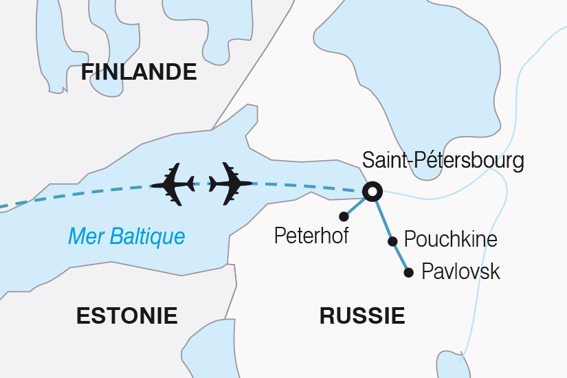 carte Russie Majestueuse Saint Petersbourg SH19 20_319 267883