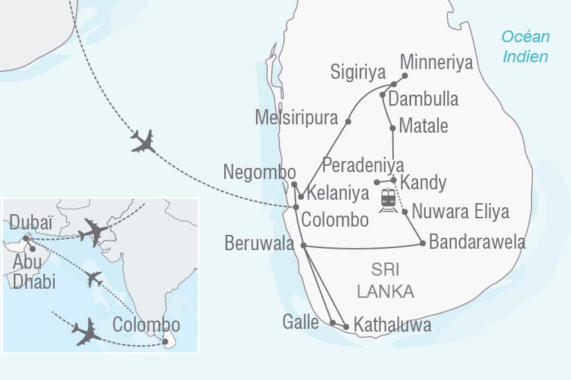 carte Sri Lanka Emirats Arabes Unis Tresors du Sri Lanka et du Golfe persique NT20_341 862366