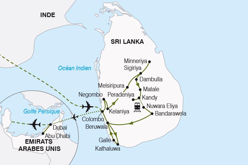 carte Sri Lanka Emirats Arabes Unis de l Ocean Indien au Golfe Persique SH20_339 257051