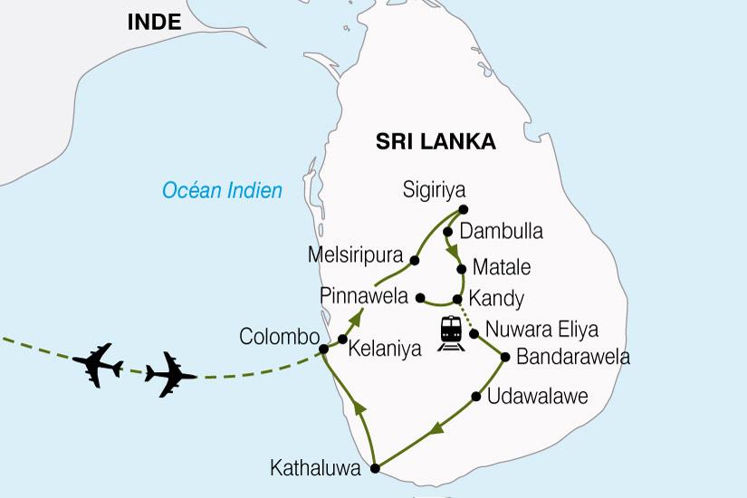 carte Sri Lanka Ile Aux Joyaux 537486