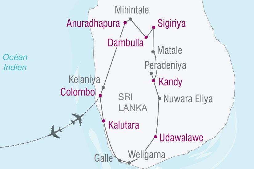 carte Sri Lanka Splendeurs Cinghalaises 528970